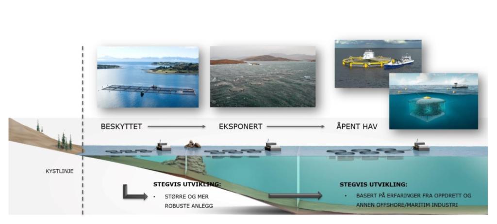 Stiim Aqua Cluster og Norsk Industri presenterte mulighetene og potensialet ved  stegvis utvilking av havbruk til havs overfor fiskeriministeren og fiskeridepartementets ledelse